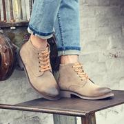 秋季沙漠靴中帮鞋磨砂皮鞋马丁靴潮男短靴内增高英伦翻毛皮男鞋子