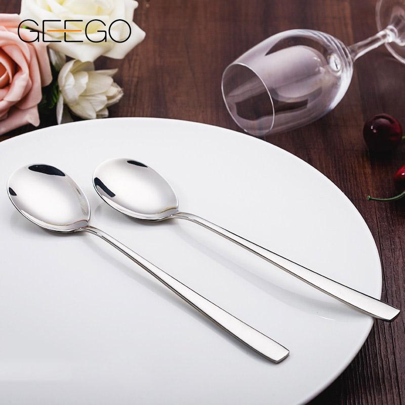 304不锈钢汤勺家用 雪糕勺调羹勺防烫加厚长柄汤匙 冰勺西餐勺子