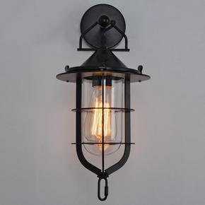 仓库鸟笼子壁灯客厅卧室餐厅吧台美式乡村仓库工业仿古做旧壁灯具
