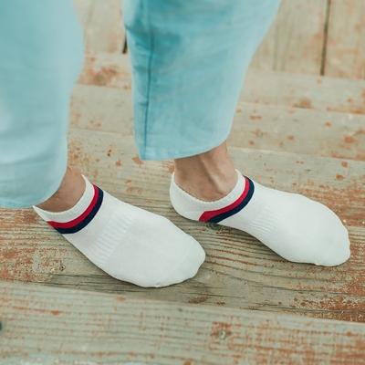 袜子男夏季纯棉短袜薄款束腰短款运动袜双色条纹四季低帮船袜防臭