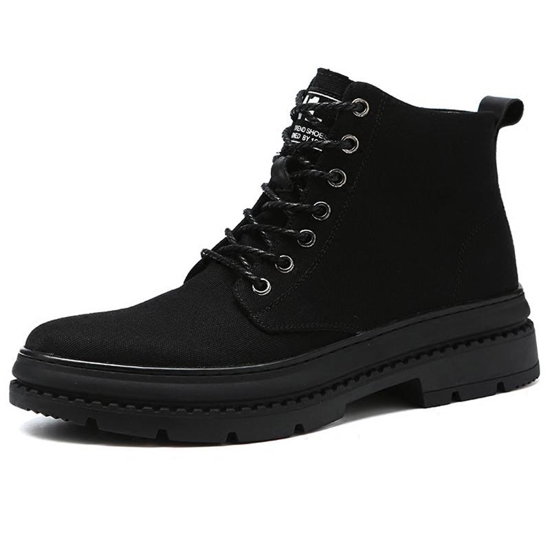 马丁靴男靴子秋季高帮军靴加绒保暖男靴中帮沙漠靴工装男潮短靴