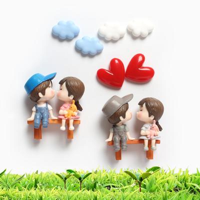 创意可爱立体情侣爱情喜庆强磁冰箱贴 磁贴 冰箱家居装饰磁贴磁铁