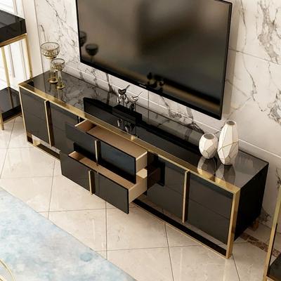 轻奢后现代简约不锈钢电视柜大小户型地柜组合创意客厅家具样板房有实体店吗