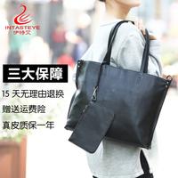 伊特艾 新款真皮女包手提包欧美时尚简约品牌牛皮大容量女士包包