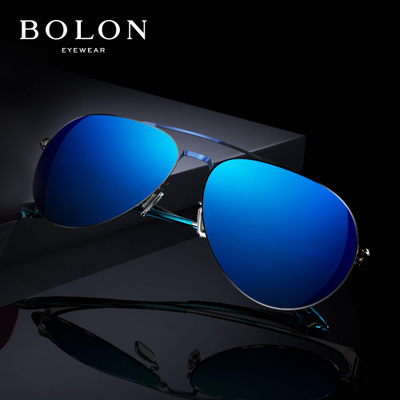 BOLON暴龙炫彩偏光太阳镜男女复古蛤蟆镜金属墨镜开车眼镜BL2560