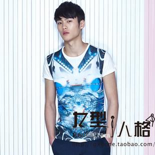 特惠gxg.jeans夏装时尚潮流休闲圆领短袖T恤52644001