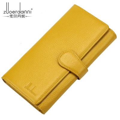 佐尔丹妮钱包三折女士钱包女卡夹长款韩版时尚多功能卡位牛皮钱夹