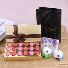[正品包邮]德芙巧克力心语18粒装金色礼盒装情人节生日送女神礼物