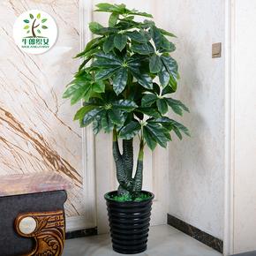 发财树仿真植物盆栽绿植塑料假树大型客厅落地假盆景装饰室内花