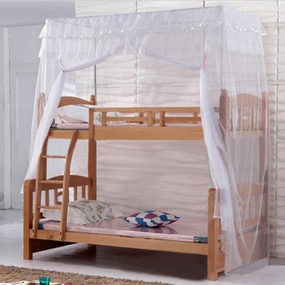 可定做子母床蚊帐上下铺高低床双层床蚊帐一体不锈钢方顶坐床式