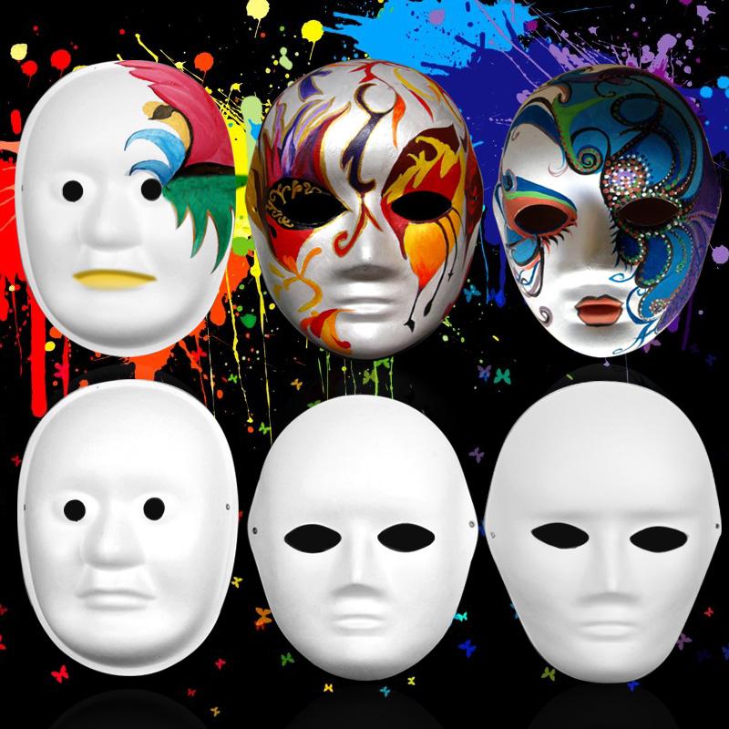万圣节脸谱绘画_白色面具手绘_优搜网