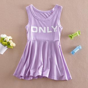 女宝2-8女孩新款莫代尔夏裙冰丝棉儿童背心裙睡裙连衣裙两件包邮