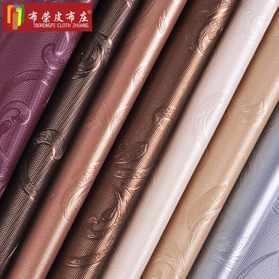 百鸟朝凤 防水pu软包人造皮革面料皮料DIY手工沙发辅料布料背景墙