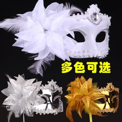 万圣节化妆舞会派对表演出威尼斯彩绘羽毛面具 美女羽毛公主面具