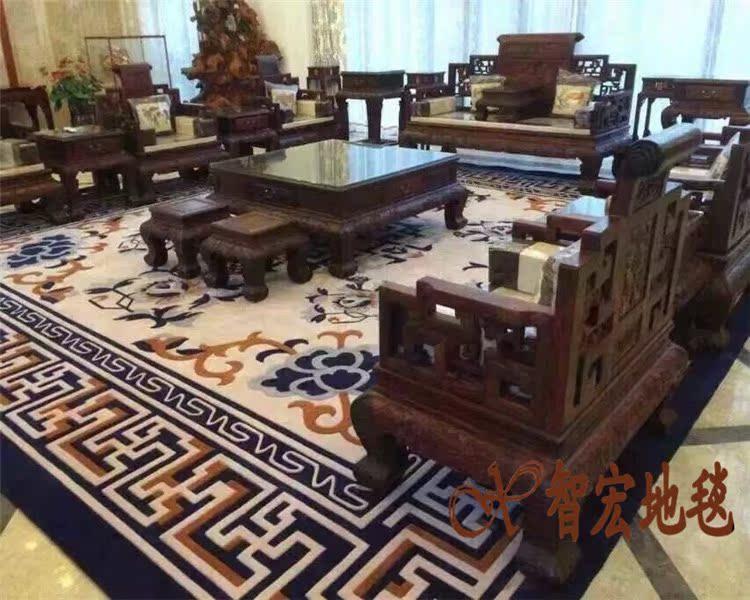 青花瓷毛地毯
