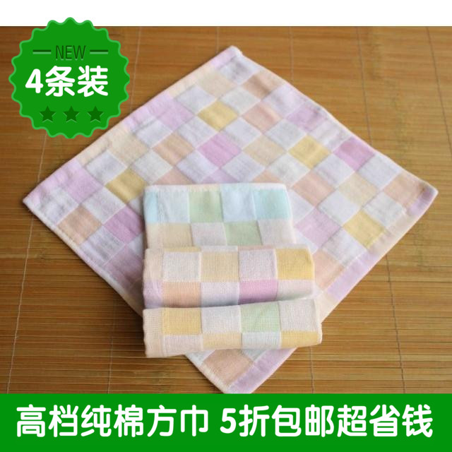 4 loaded baby saliva towel double gauze cotton square towel absorbent kindergarten hair