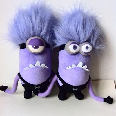 新品卑鄙的我2/神偷奶爸紫色小黄人公仔正版变异邪恶魔黄豆豆摆件