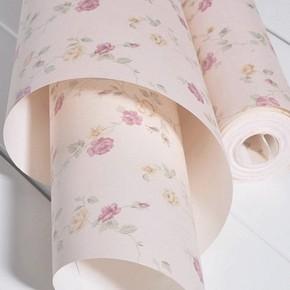 温馨无纺布田园印花墙纸 摄影背景墙壁纸 小碎花儿童卧室墙纸满铺