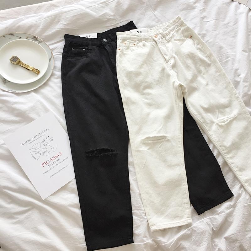 简约白色七分裤