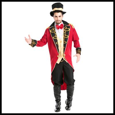 万圣节魔术师加勒比海盗装COSPLAY燕尾服男演出服装欧美男伯爵