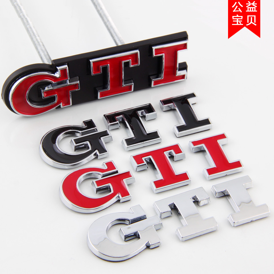 大众POLO 高尔夫6 7代车标 中网标 GTI尾箱标 立体车贴标尾标