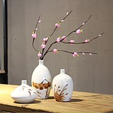 New Chinese ceramic vase flower dry vase living room TV cabinet swings bamboo fake flowers decorated modern simplicity