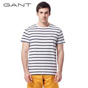 GANT/甘特夏新品男士条纹短袖T恤时尚撞色休闲男T 254133