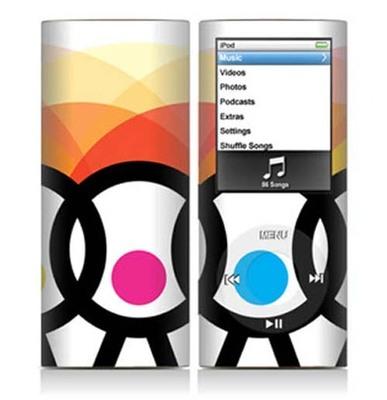 苹果 iPod nano4 插画团案 装饰彩膜 炫彩贴纸  保护贴膜 全身贴