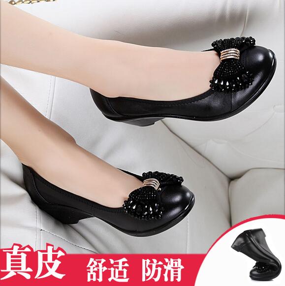 女士鞋子单鞋平底皮鞋