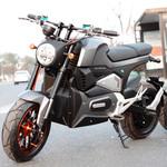 威科力时尚复古电摩款M6 2000W电机 咖啡电动摩托车 M6电动车