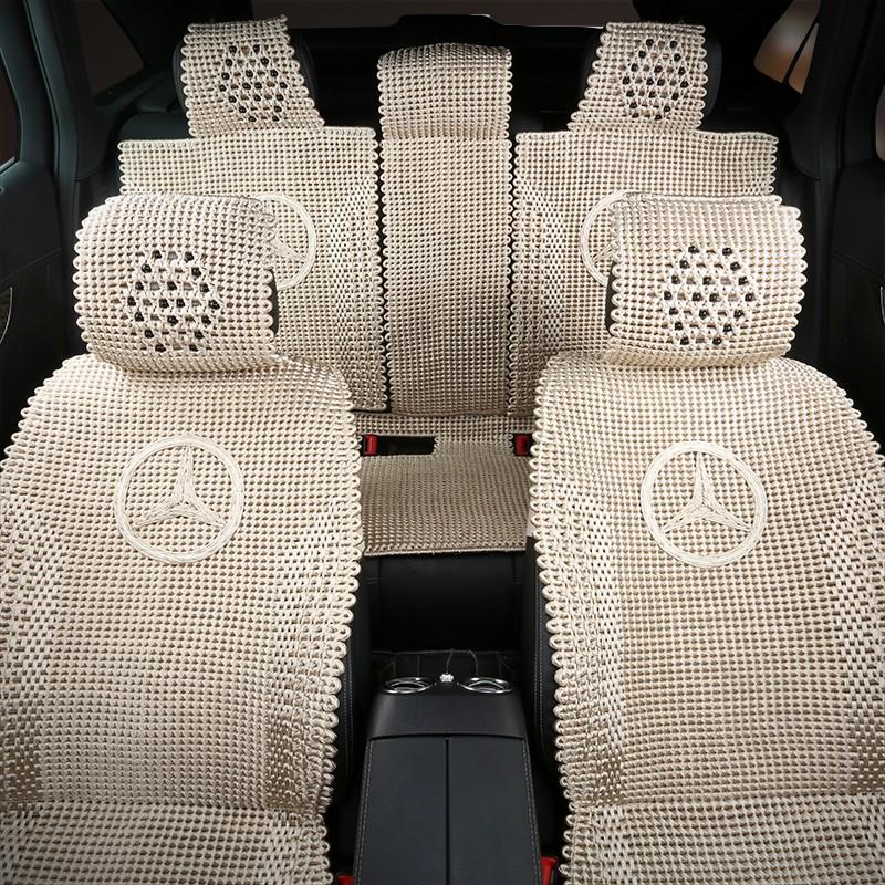 宝马x6专用手编冰丝汽车坐垫