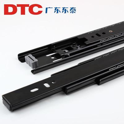 东泰DTC三节轨道静音家具橱柜抽屉轨道滑道3节导轨滚珠侧装滑轨年中大促