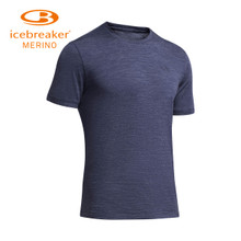 ICEBREAKER Icemaker Merino Wool Men's Short-sleeved T-shirt Outdoor Sports Fast Dry Clothes 150 GM