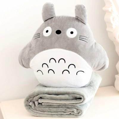 龙猫公仔暖手抱枕捂手枕被子两用暖手捂暖手筒插手枕可爱毛绒萌