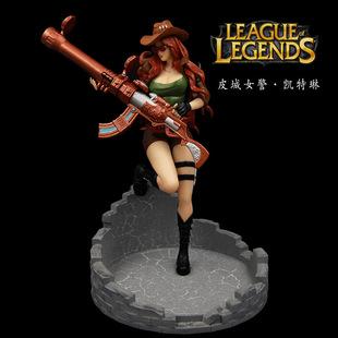 模界动漫 lol-英雄联盟-皮城女警皮肤版-凯特琳 盒装手办模型