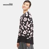 女17021703605 针织衫 套头圆领中款 艾格Weekend春季柔美拼色经典
