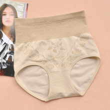 Five baggage-mail large-size cotton high-waist, belly-pulling, hip-pulling underwear, body-shaping underwear, belly-pulling ladies'pants