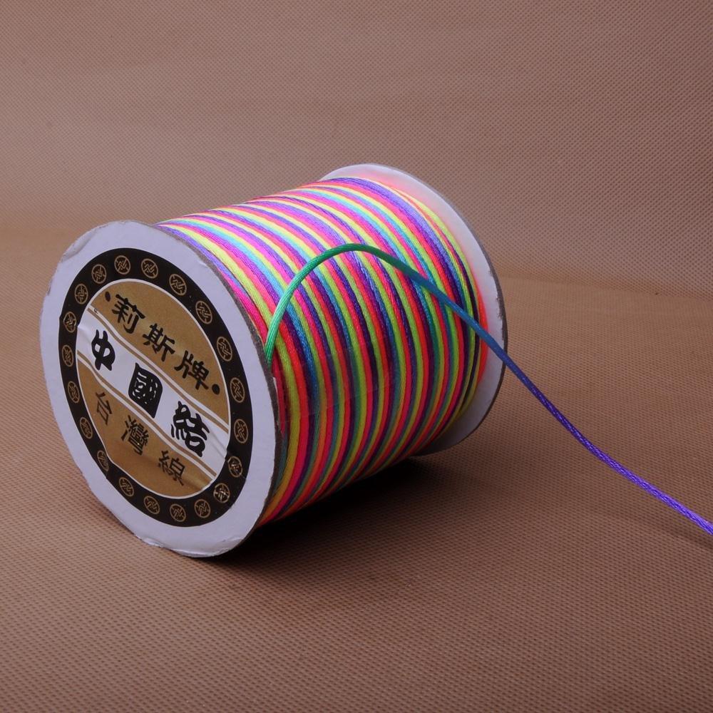 正品DIY线材台湾莉斯线6号大卷装 编织中国结 红绳批发 红线玉绳