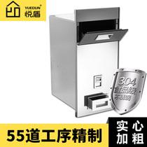 不锈钢自动计量抽拉式米箱304嵌入式米桶厨房橱柜储米柜米柜