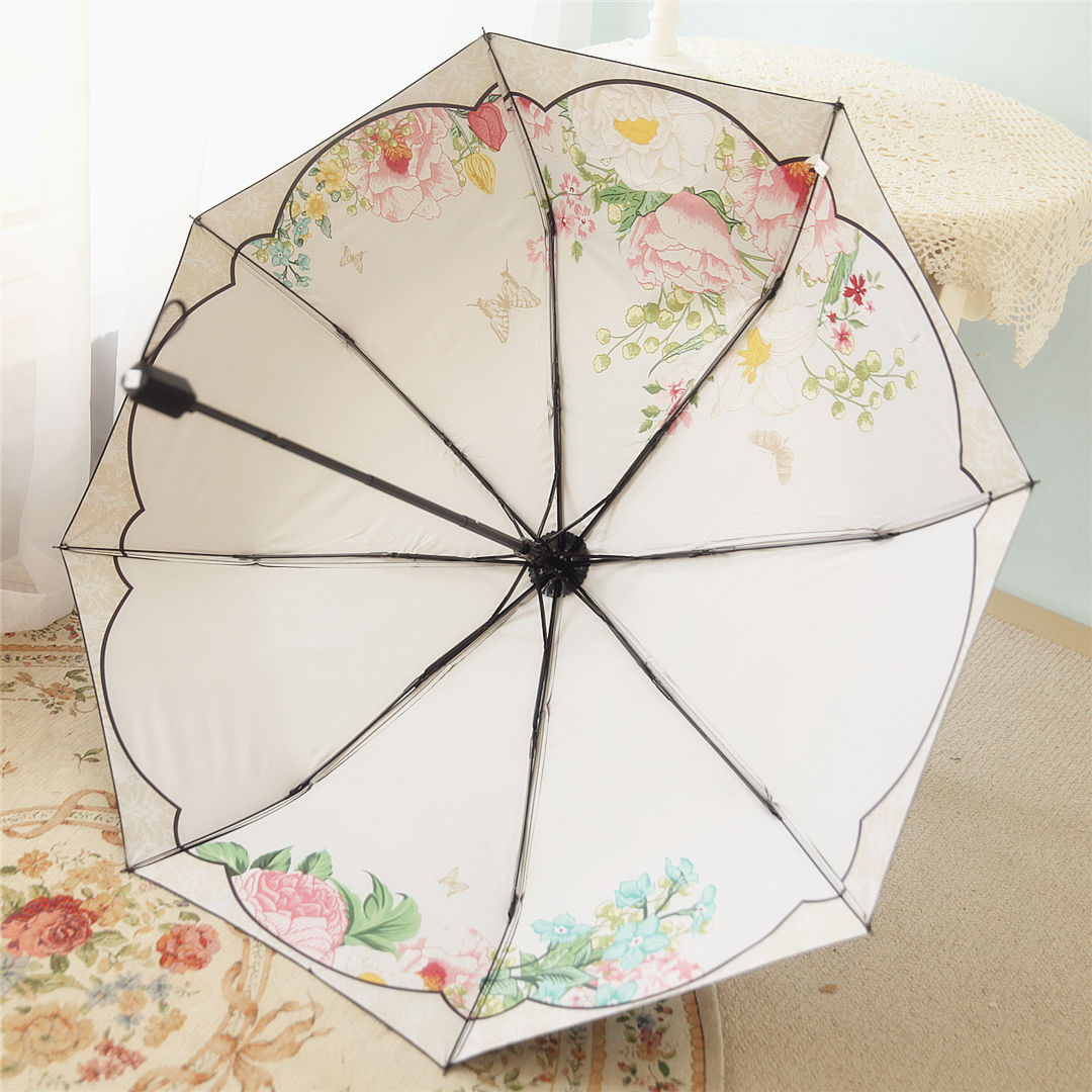 百盛洋三折伞