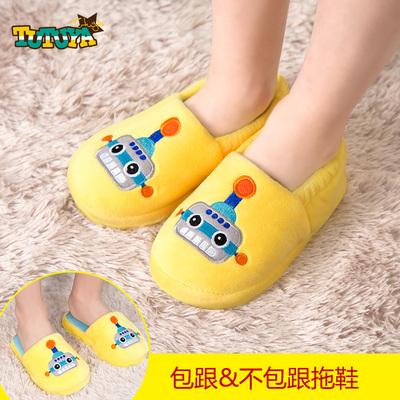 韩国加绒保暖冬季新款居家拖鞋男童女童鞋子防滑宝宝可爱潮棉拖鞋