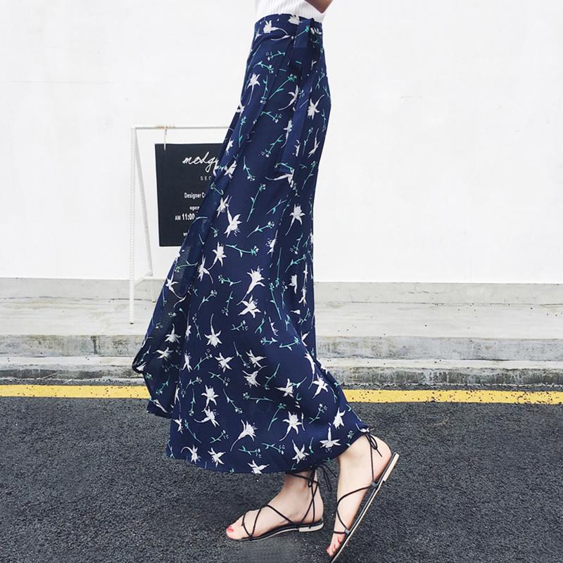 半身裙女夏2017新款韩版裙子学生中长款沙滩裙波西米亚雪纺长裙a5元优惠券