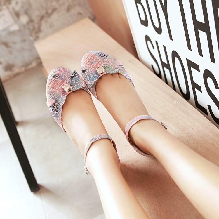凉鞋女中学生高跟鞋