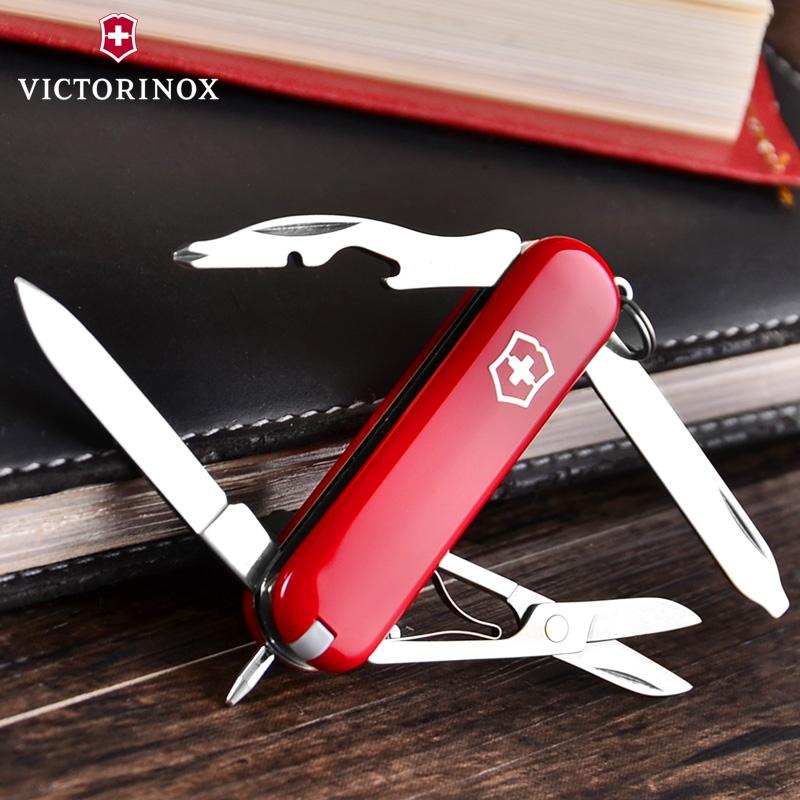原装正品瑞士军刀58mm经理(红)0.6365维氏迷你多功能折叠瑞士刀具