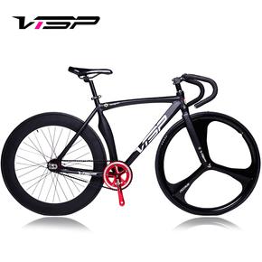 VISP弯刀肌肉死飞自行车 竞速三刀轮学生单车 倒骑真死飞车男女款
