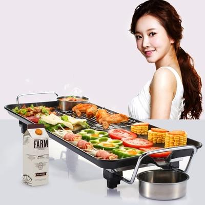 考肉烤炉考肉锅环艺电烧烤炉韩式家用电烤炉无烟烤肉机电烤盘铁板
