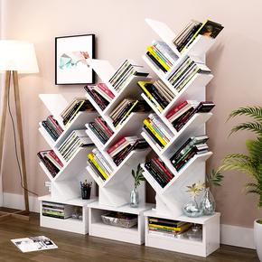 创意书架置物架落地艺术个性实木简约现代经济型简易桌上学生用
