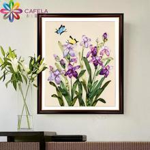 卡菲兰丝带绣新款植物花卉花草钻石客厅卧室挂画3D立体印花十字绣
