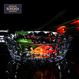 Czech Imported BOHEMIA Bohemian Large Crystal Glass Fruit Plate Creative Large Fruit Pot Fruit Plate in Living Room