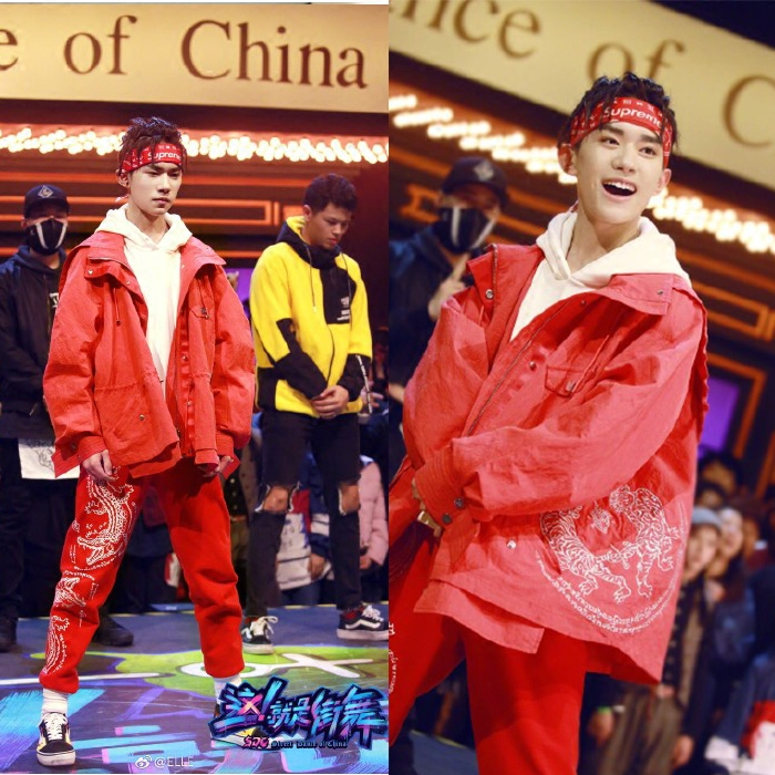《这就是街舞》易烊千玺同款红色外套